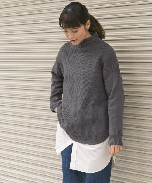 かぐれ / かぐれ ニット・セーター | タートルリブニット(CHARCOAL)