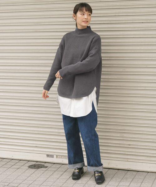かぐれ / かぐれ ニット・セーター | タートルリブニット | 詳細1