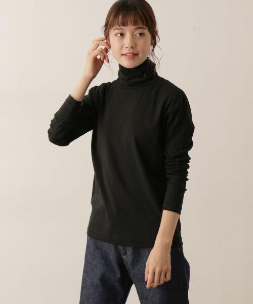 かぐれ / かぐれ Tシャツ | ロータスコットンタートルネック(BLACK)