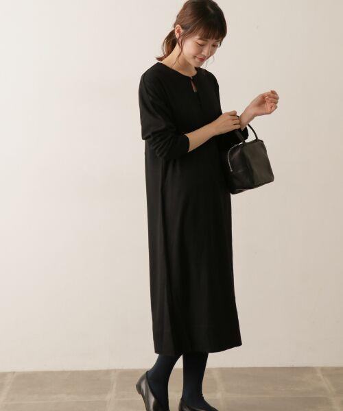 かぐれ / かぐれ ワンピース | sigalm ウォッシャブルウールワンピース(BLACK)