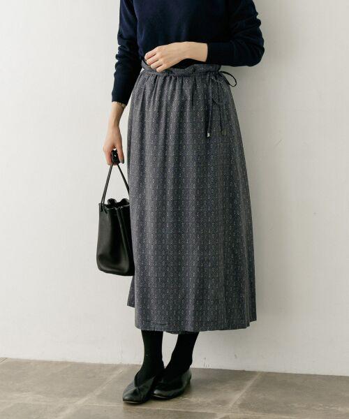 かぐれ / かぐれ スカート | sigalm 小紋柄ラップスカート(GRAY)
