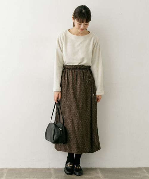 かぐれ / かぐれ スカート | sigalm 小紋柄ラップスカート | 詳細2