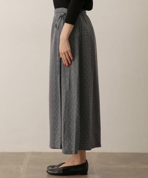 かぐれ / かぐれ スカート | sigalm 小紋柄ラップスカート | 詳細3