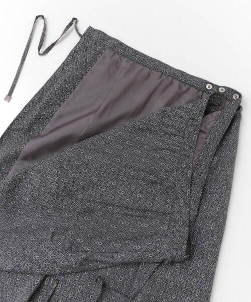 かぐれ / かぐれ スカート | sigalm 小紋柄ラップスカート | 詳細7