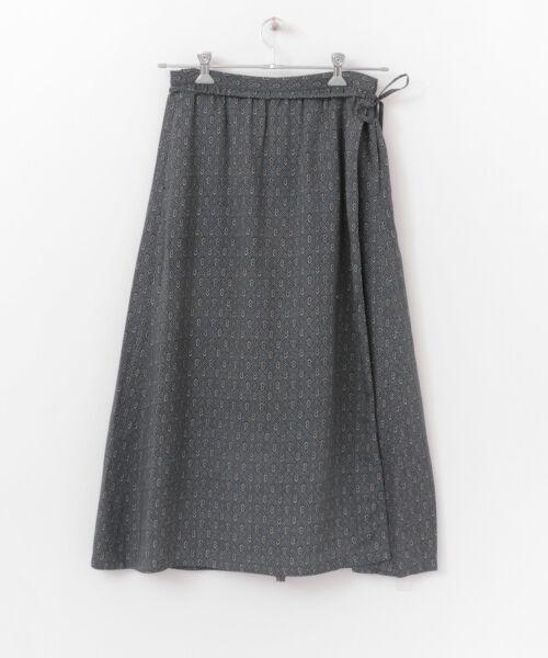 かぐれ / かぐれ スカート | sigalm 小紋柄ラップスカート | 詳細8