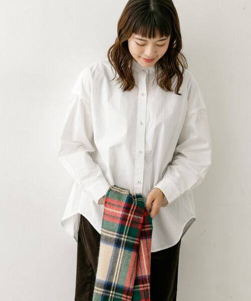 かぐれ / かぐれ シャツ・ブラウス | コットンカシュクールシャツ(OFF WHITE)
