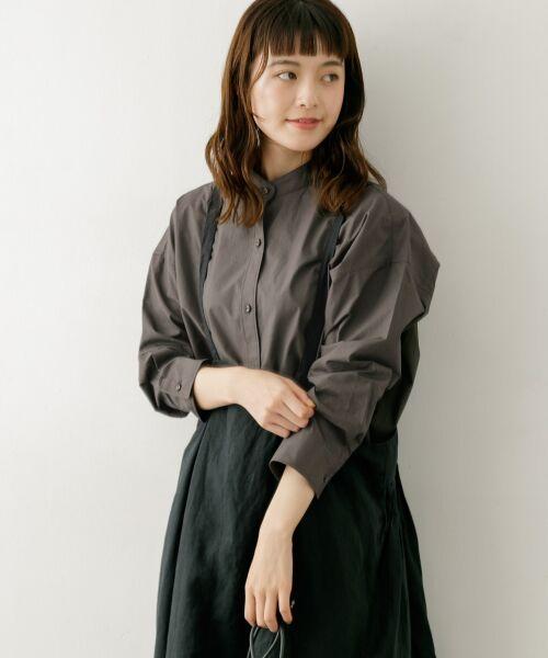 かぐれ / かぐれ シャツ・ブラウス | コットンカシュクールシャツ(GRAY)