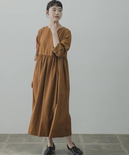 かぐれ / かぐれ ワンピース | コットンテンセルギャザーワンピース(CAMEL)
