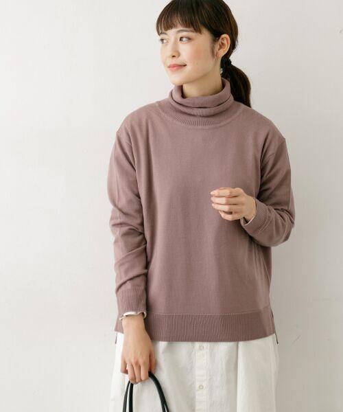 かぐれ / かぐれ ニット・セーター | ハイゲージタートルネックニット(SMOKE PINK)
