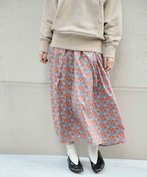 かぐれ / かぐれ スカート | リバティプリントギャザースカート(CLEMENTINA)