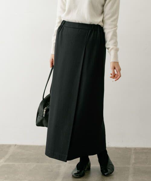 かぐれ / かぐれ スカート | ウールカットソーストレートスカート(BLACK)