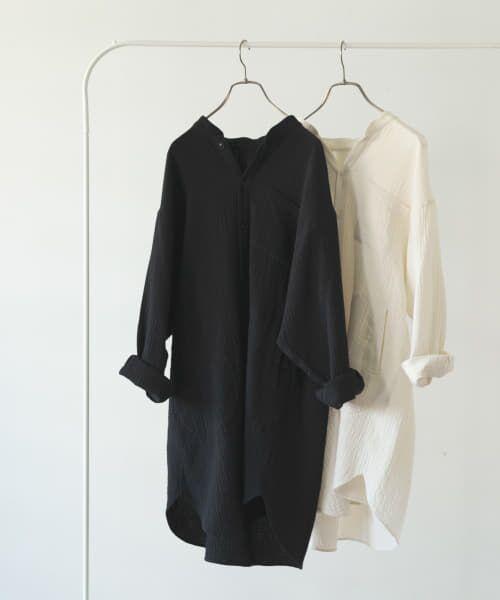 かぐれ / かぐれ チュニック | ダブルガーゼチュニックシャツ(BLACK)