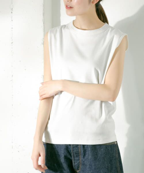 かぐれ / かぐれ Tシャツ   ロータスコットンノースリーブ(OFF WHITE)