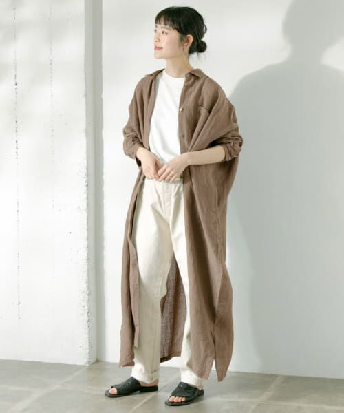 かぐれ / かぐれ ワンピース   リネンワイドシャツワンピース   詳細30