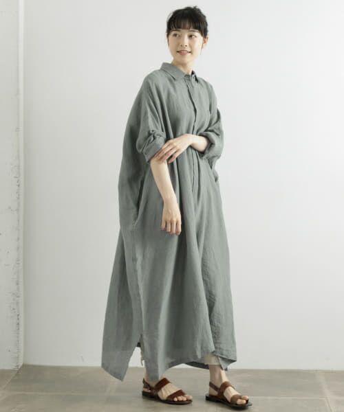 かぐれ / かぐれ ワンピース   リネンワイドシャツワンピース   詳細8