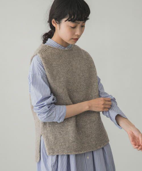 かぐれ / かぐれ ニット・セーター | ペルーニットベスト(GRAY)