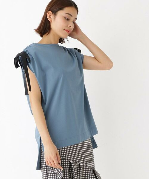 Kaon / カオン カットソー | ショルダーリボンカットソー(ブルー(092))