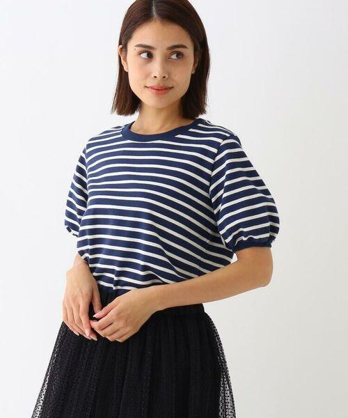 Kaon / カオン その他トップス | コットンボーダーTシャツ(ネイビー(393))