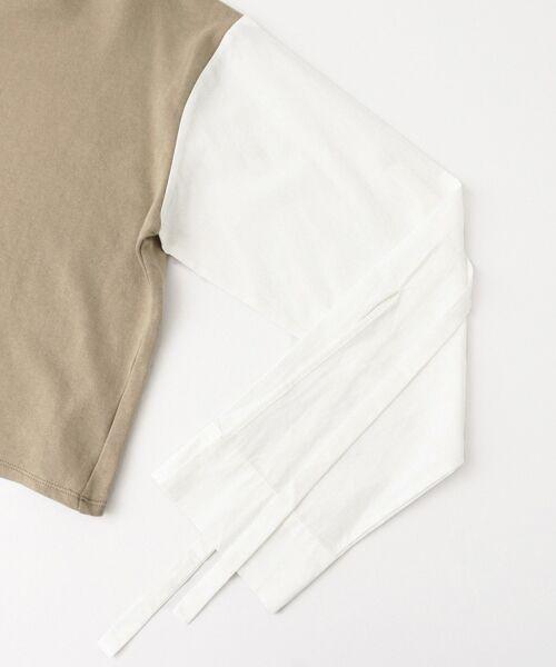 KBF / ケービーエフ Tシャツ | KBF+ 袖リボンスエットトップス | 詳細11