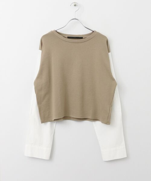 KBF / ケービーエフ Tシャツ | KBF+ 袖リボンスエットトップス | 詳細7
