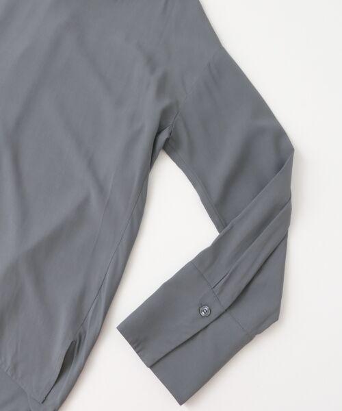 KBF / ケービーエフ シャツ・ブラウス | KBF+ 衿折り返しブラウス | 詳細8