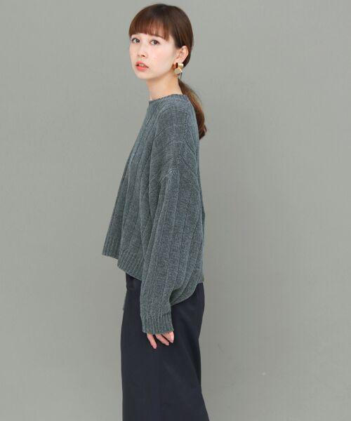 KBF / ケービーエフ ニット・セーター | ワイドリブモールヤーンニット | 詳細2