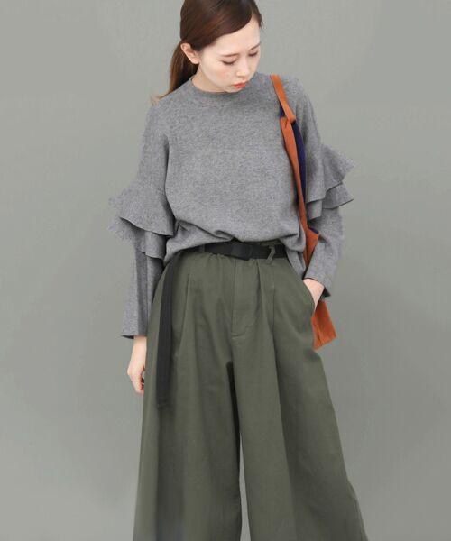 KBF / ケービーエフ ニット・セーター | フリルスリーブニット | 詳細15