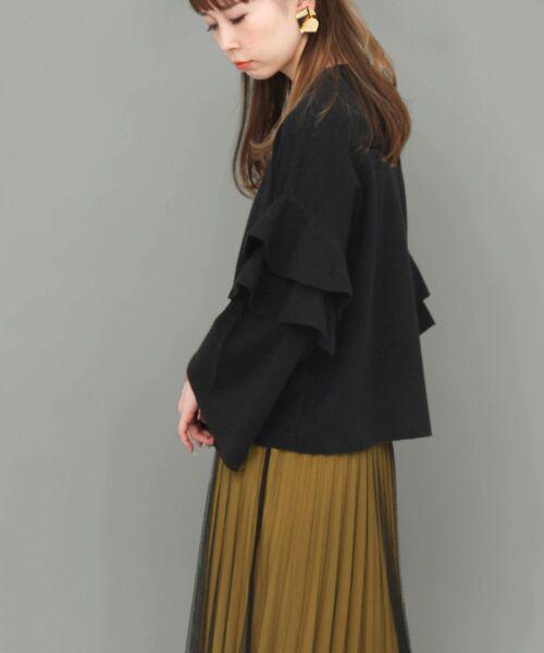 KBF / ケービーエフ ニット・セーター | フリルスリーブニット | 詳細9