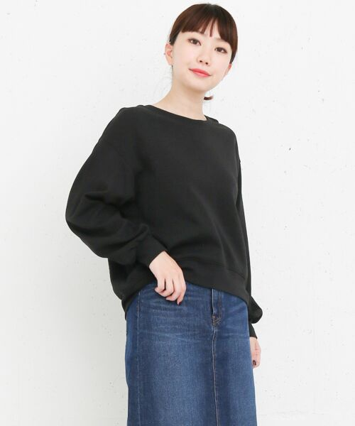 KBF / ケービーエフ Tシャツ | KBF+ 袖ギャザービックプルオーバー(BLACK)