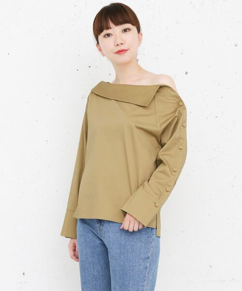 KBF / ケービーエフ Tシャツ | KBF+ ショルダーボタンシャツ(BEIGE)