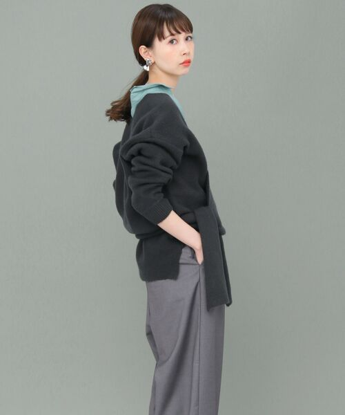 KBF / ケービーエフ ニット・セーター | カシュクールカーディガン | 詳細5