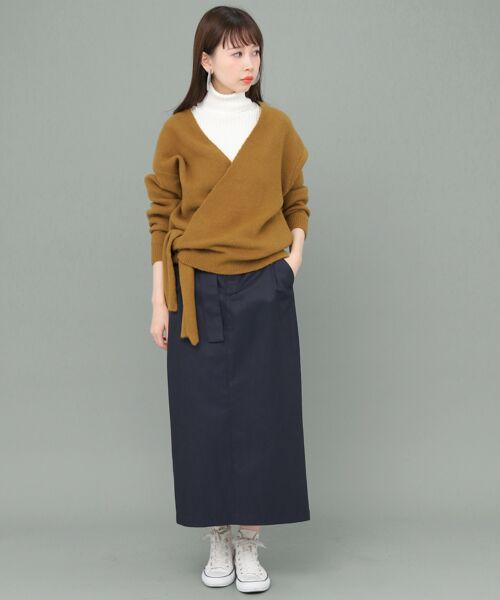 KBF / ケービーエフ ニット・セーター | カシュクールカーディガン | 詳細9