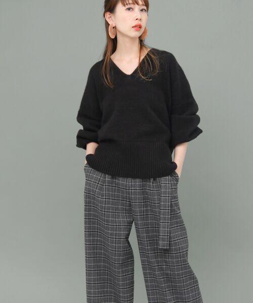 KBF / ケービーエフ ニット・セーター   WEB限定 パフスリーブVネックニット   詳細5