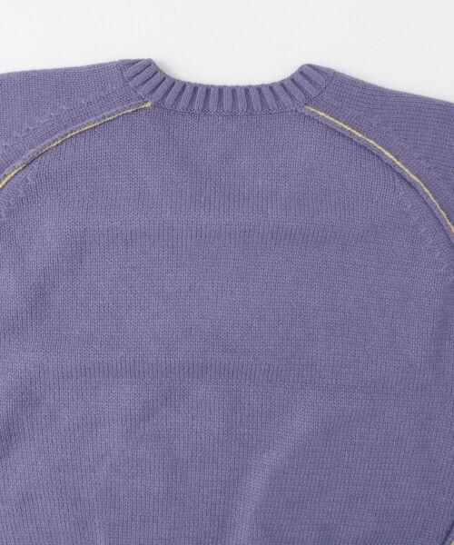 KBF / ケービーエフ ニット・セーター | WEB限定 カラーリンキングVネックニット | 詳細21