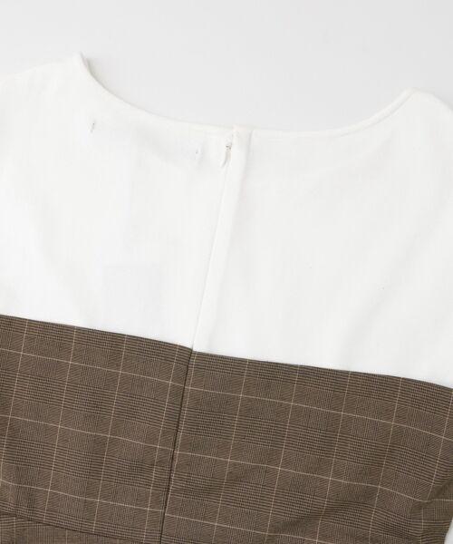 KBF / ケービーエフ Tシャツ | KBF+ チェックビスチェ切り替えカットソー | 詳細11