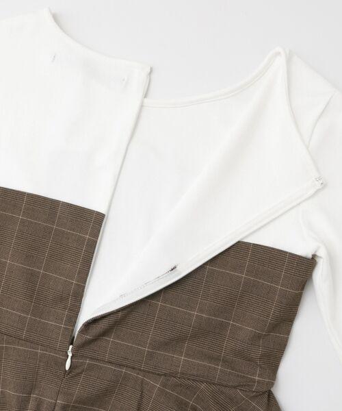 KBF / ケービーエフ Tシャツ | KBF+ チェックビスチェ切り替えカットソー | 詳細12