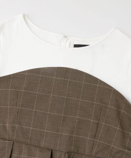 KBF / ケービーエフ Tシャツ | KBF+ チェックビスチェ切り替えカットソー | 詳細7