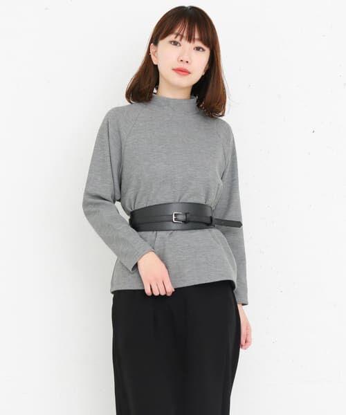 KBF / ケービーエフ Tシャツ | KBF+ ベルト付きハイネックトップス | 詳細3