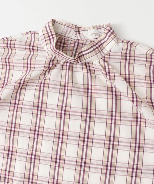 KBF / ケービーエフ シャツ・ブラウス | スタンドネックチェックシャツ | 詳細1