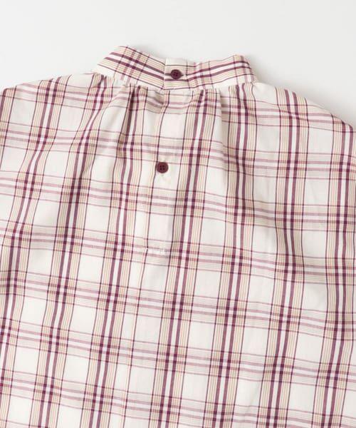 KBF / ケービーエフ シャツ・ブラウス | スタンドネックチェックシャツ | 詳細4