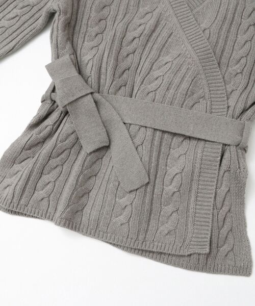 KBF / ケービーエフ ニット・セーター | KBF+ カシュクールガウンニット | 詳細11