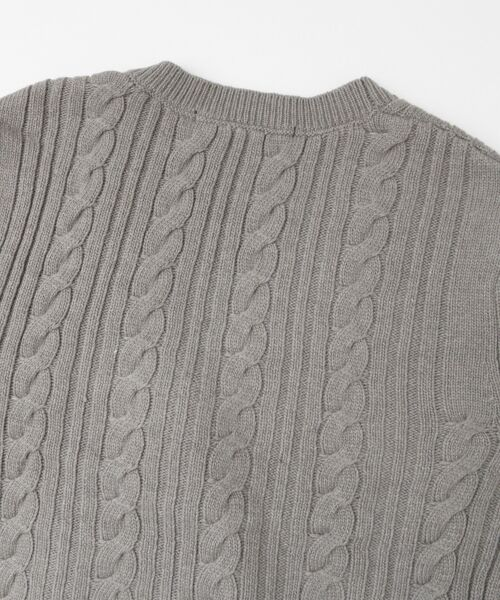 KBF / ケービーエフ ニット・セーター | KBF+ カシュクールガウンニット | 詳細13