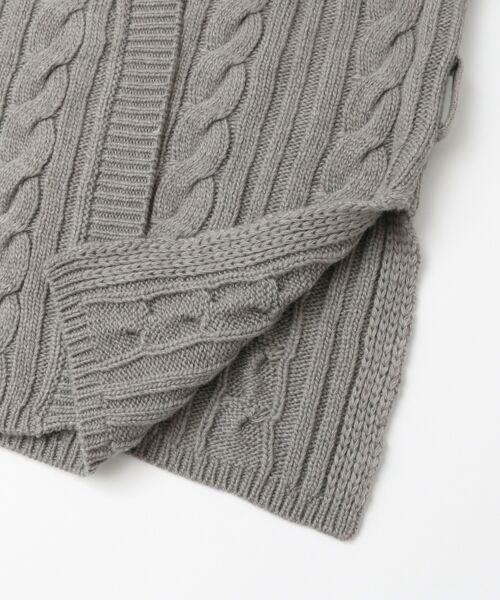 KBF / ケービーエフ ニット・セーター | KBF+ カシュクールガウンニット | 詳細9