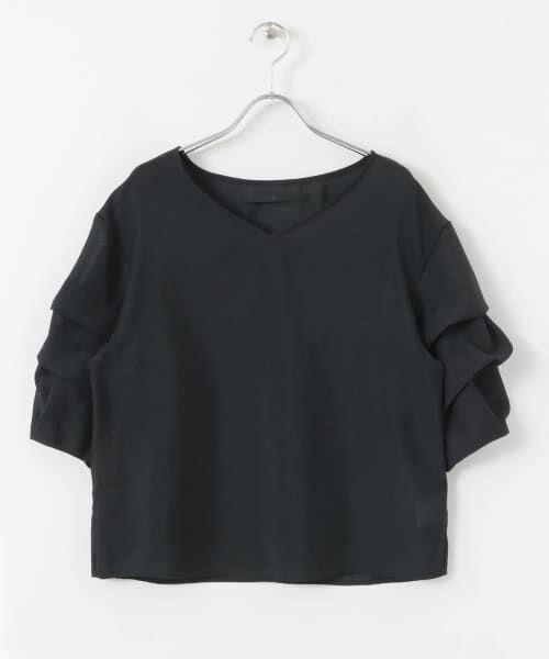 KBF / ケービーエフ Tシャツ | KBF+ 袖タックボリュームシアートップス | 詳細17