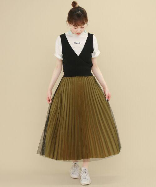 【セールおすすめアイテム】チュール×プリーツが目を惹く主役級スカート!