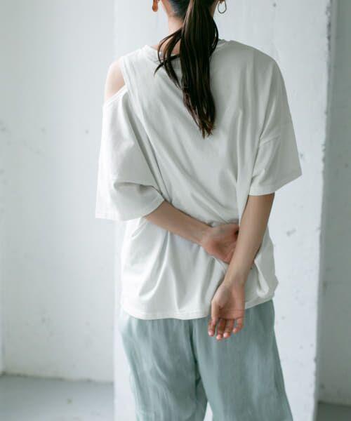 KBF / ケービーエフ Tシャツ | オープンショルダーアシンメトリーTシャツ | 詳細10