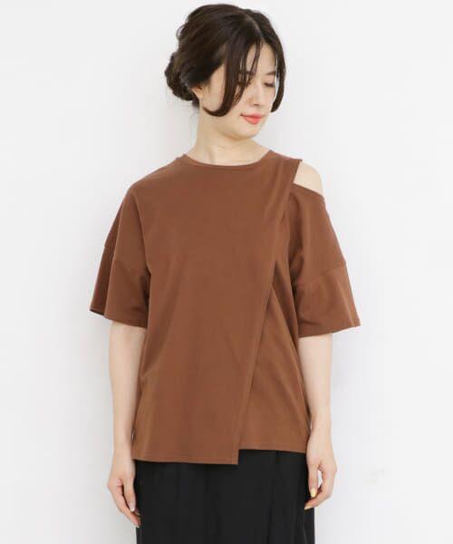 KBF / ケービーエフ Tシャツ | オープンショルダーアシンメトリーTシャツ | 詳細12