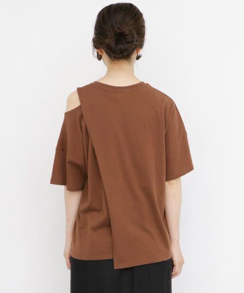 KBF / ケービーエフ Tシャツ | オープンショルダーアシンメトリーTシャツ | 詳細14