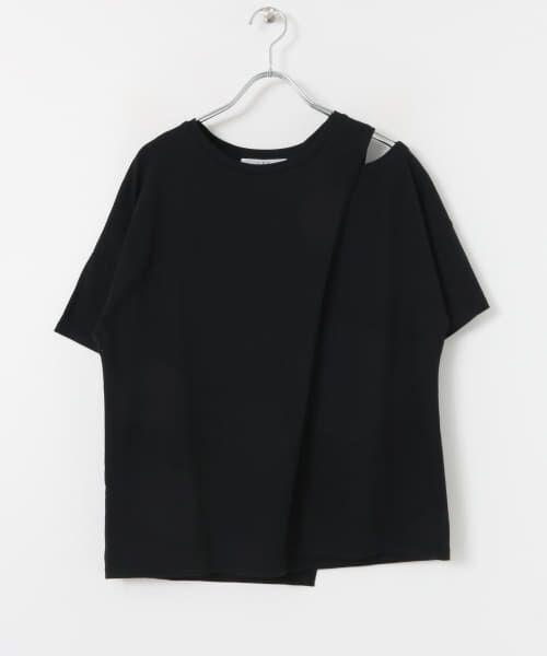 KBF / ケービーエフ Tシャツ | オープンショルダーアシンメトリーTシャツ | 詳細15