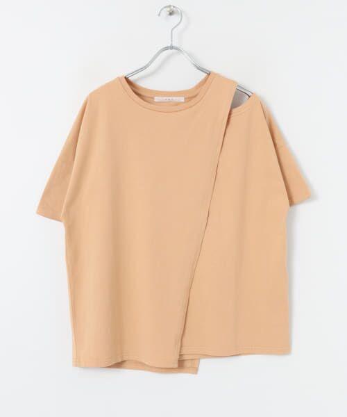 KBF / ケービーエフ Tシャツ | オープンショルダーアシンメトリーTシャツ | 詳細16